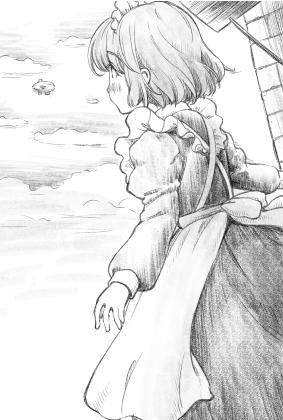 メイドさんと飛行船